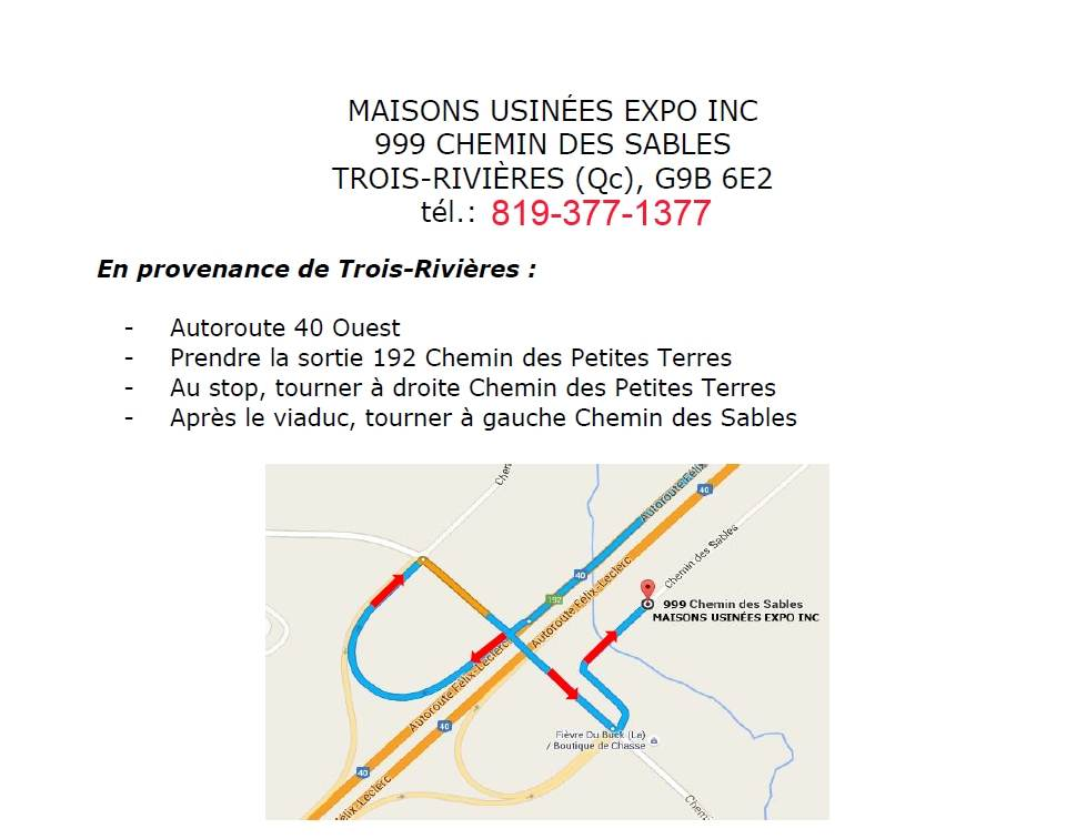 Contact maisons usin es expo for Maisons usinees expo